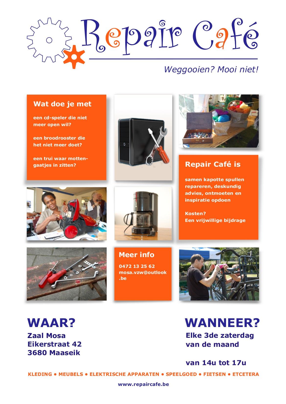 Repair Café @ Zaal Mosa   Maaseik   Vlaanderen   België