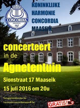 Koninklijke Harmonie Concordia: Zomerconcert @ Agnetenklooster   Maaseik   Vlaanderen   België