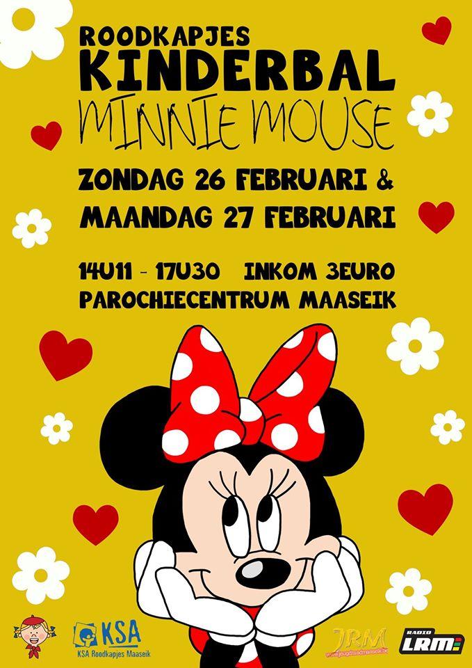 "Roodkapjes kinderbal ""Minnie Mouse"" @ Parochiezaal Maaseik   Maaseik   Vlaanderen   België"