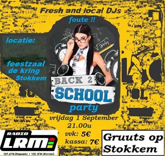 Back 2 School Party @ Feestzaal De Kring | Dilsen-Stokkem | Vlaanderen | België