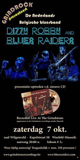 CD-voorstelling van Dizzy Robby & Blues Raiders @ Zaal Wilgenveld | Maaseik | Vlaanderen | België