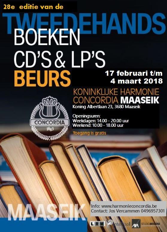 Tweedehands boeken- en platenbeurs @ Zaal Van Eyck | Maaseik | Vlaanderen | België